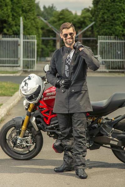 Motocyklowe jeansy Ixon Sawyer i płaszcz Ixon Nation