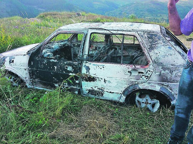 Aleksandrovac Zapaljen auto zrtve Djurdja Ugrinica foto Gvozden Zdravic