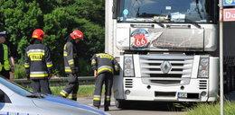 Ciężarówka przygniotła robotnika