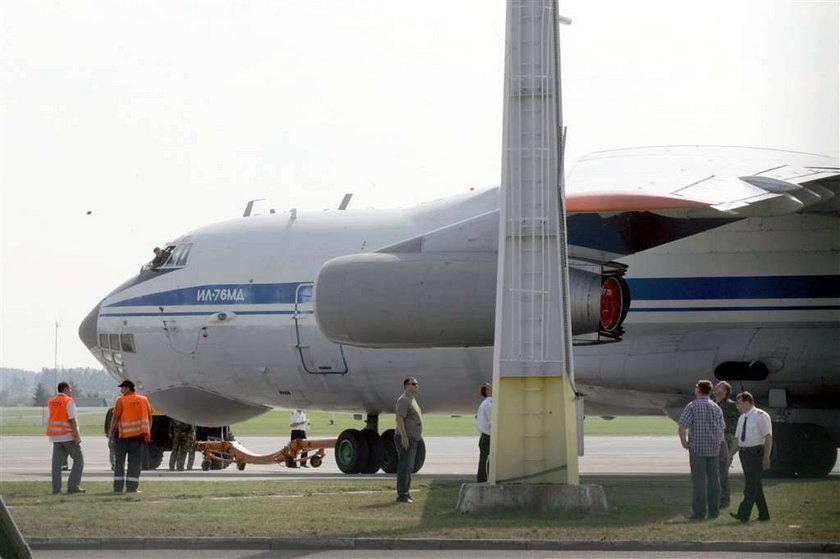 Samolot Putina uderzył w słup w Gdańsku