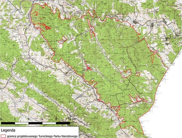 Obszar projektowanego Turnickiego Parku Narodowego