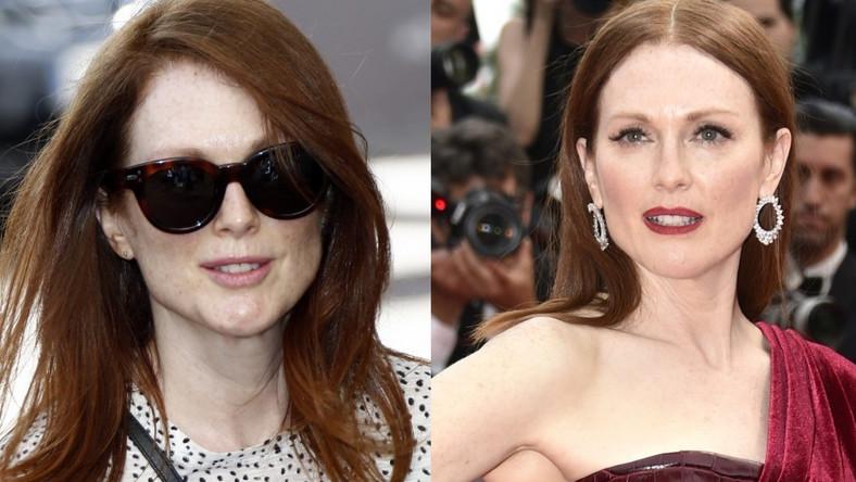 Na tym zdjęciu widać, jak wiele w wyglądzie kobiety może zmienić makijaż...