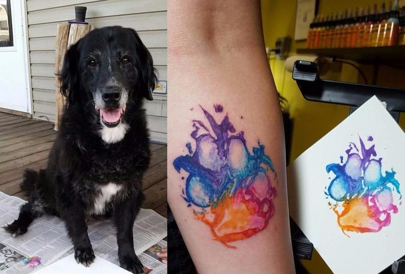 Real Art Design Group : Tatuaż w kształcie łapy psa zobacz najlepsze pomysły na