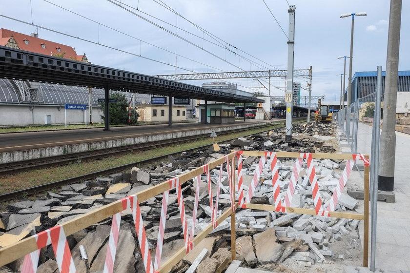 Zakończono remont peronu 4a na dworcu Poznań Główny
