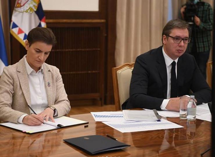 Brnabić, Vučić, memorandum o saradnji