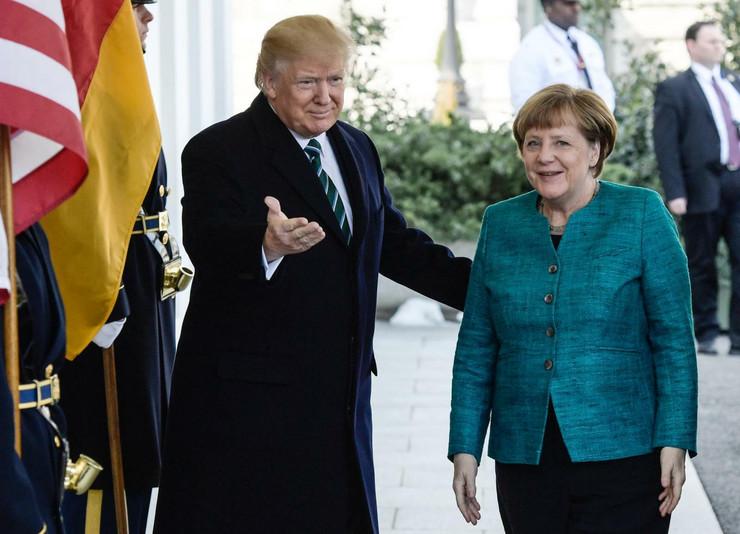 Donald Tramp, Angela Merkel, Sastanak
