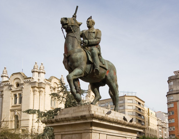 Usunięty pomnik generała Franco, Santander, Hiszpania