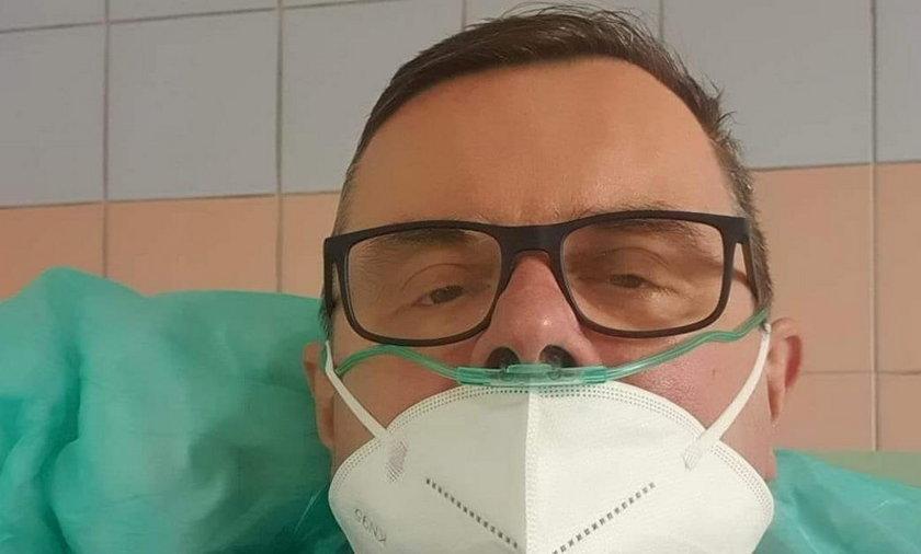 Jerzy Polaczek w szpitalu