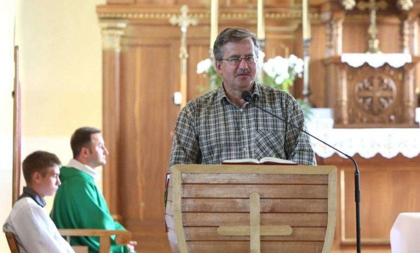 Komorowski był w seminarium! Ale...