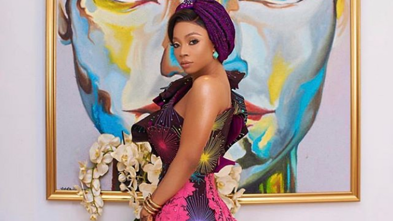 Toke Makinwa looks amazing in this look by Zhena Woman