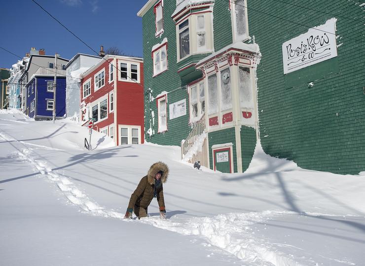 Njufaundlend, Kanada, sneg