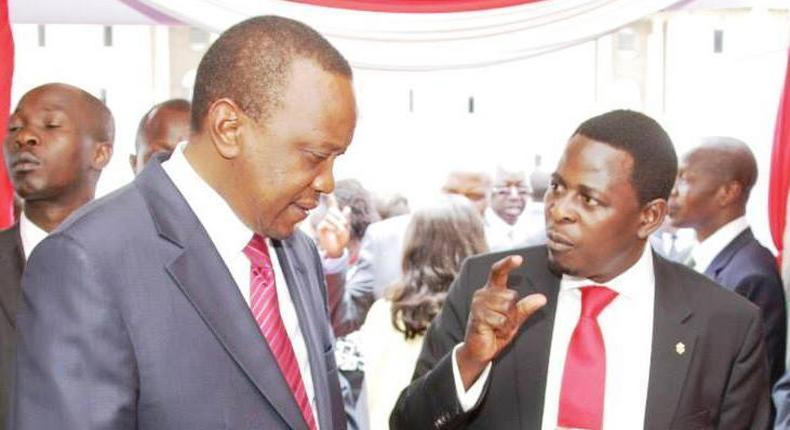Businessman Gor Semelang'o with President Uhuru Kenyatta