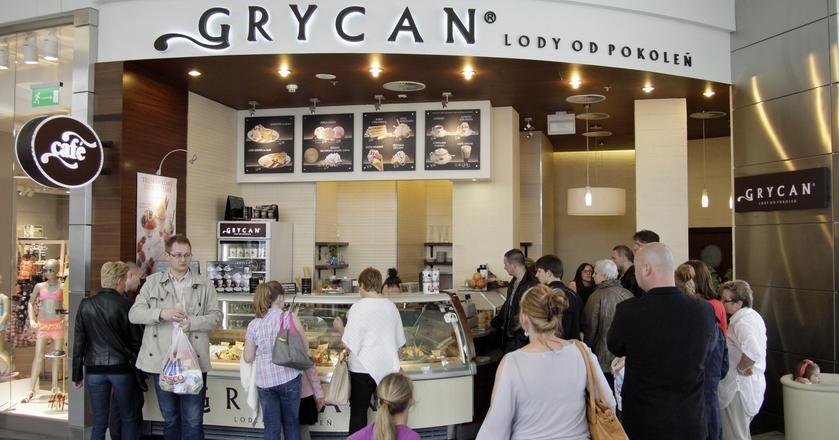 Zdecydowana większość lodziarni Grycana mieści się w galeriach handlowych