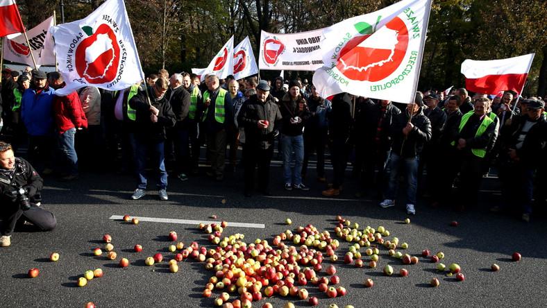 Ponad 500 sadowników demonstrowało w Warszawie. Uważają, że polskie władze nie robią wystarczająco dużo, by plantatorzy mogli funkcjonować.