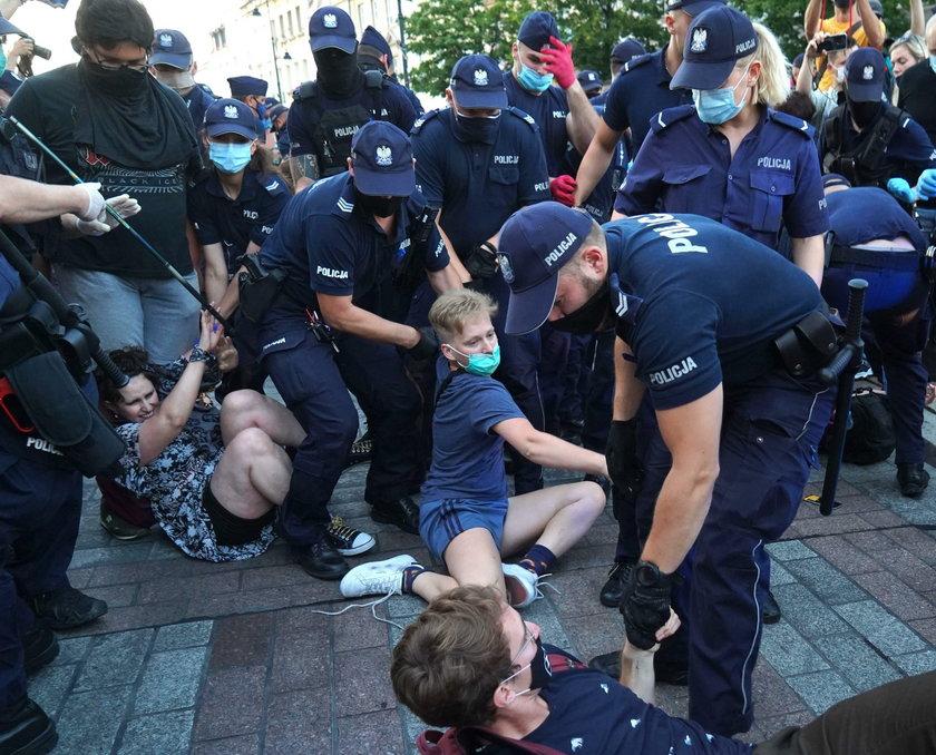 Protest w obronie zatrzymanego aktywisty