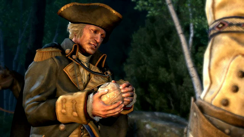 Assassin's Creed III - George Washington trzyma Fragment Edenu