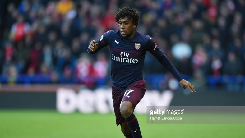 Alex Iwobi was on gtarget for the third time in the Premier League against Huddersfield Town  [Harriet Lander Copa Getty Images]