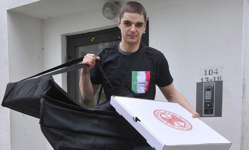 Łukasz Kuraś przeżył chwile grozy, gdy dostarczał pizzę