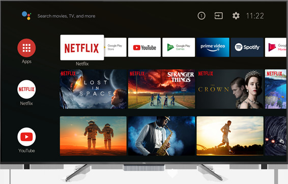 TCL 55C715K - interfejs Android TV