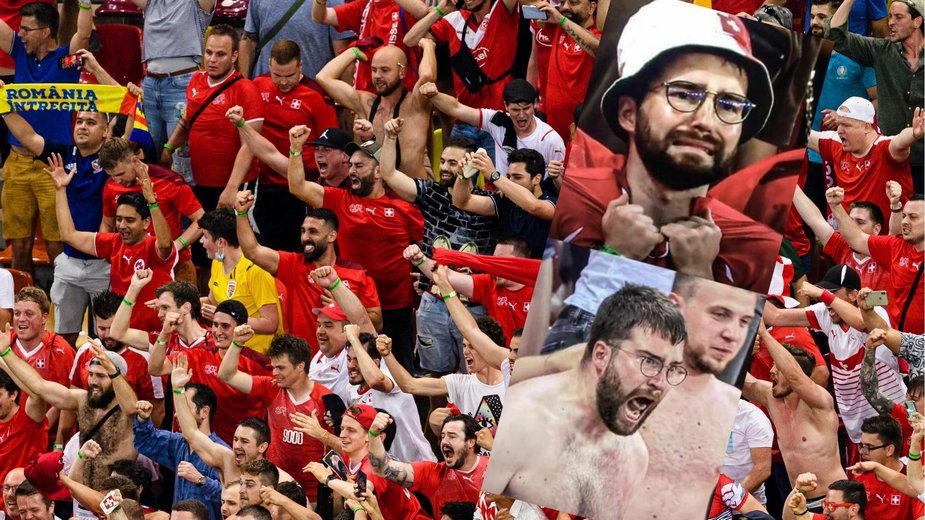 Słynny kibic z meczu Francja - Szwajcaria