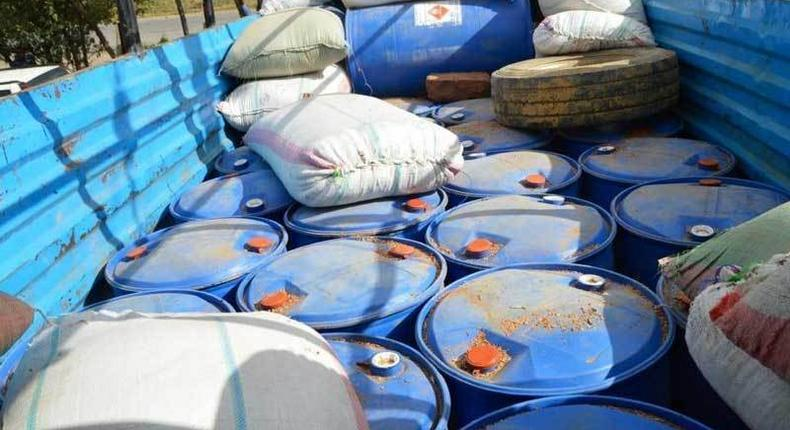 Detectives intercept lorry ferrying ethanol after chase in Naivasha