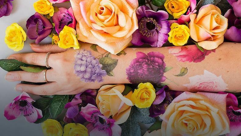 Tatuaż Który Pachnie Jak Prawdziwy Kwiat To Nie Fantazja
