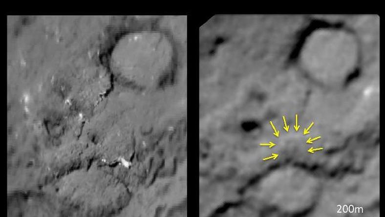 Zobacz niezwykłe zdjęcia komety. Widać ślad po człowieku...