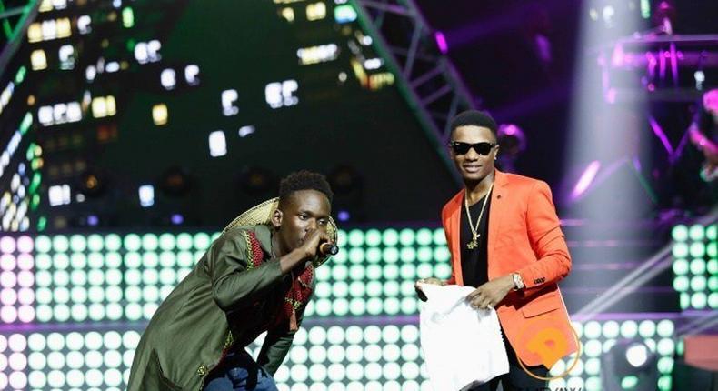 Wizkid and Mr Eazi at the Ghana Music Awards