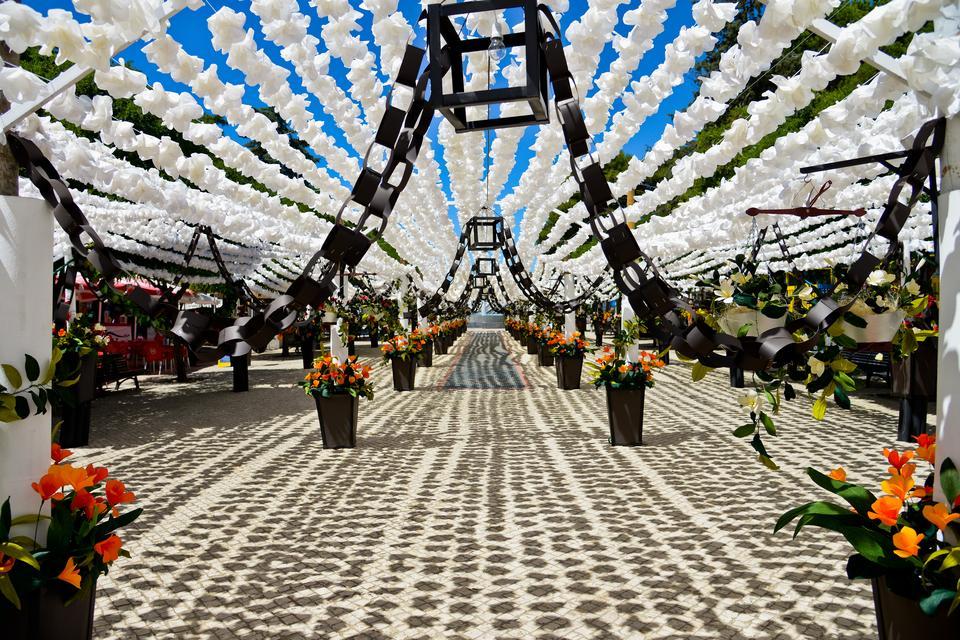 Campo Maior - miasto słynące z festiwalu papierowych ręcznie wykonanych kwiatów, które zdobią ulice