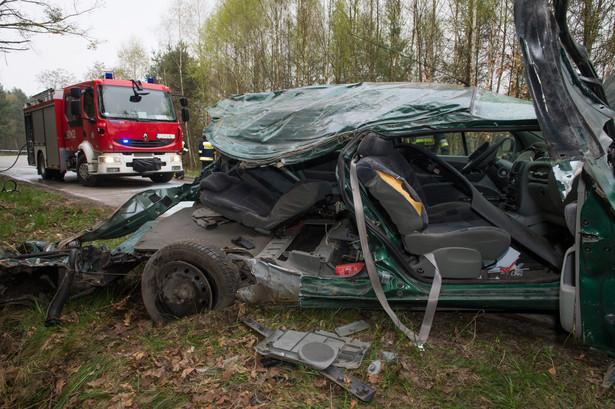 wypadek k. Chełmna. Fot. Tytus Żmijewski