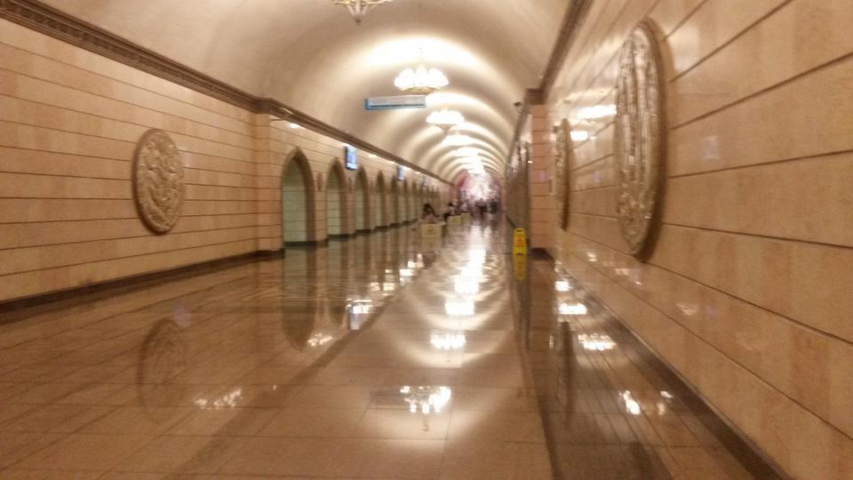 Metro w Ałmaty, w Kazachstanie