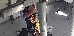 Kobieta podpaliła się na komisariacie