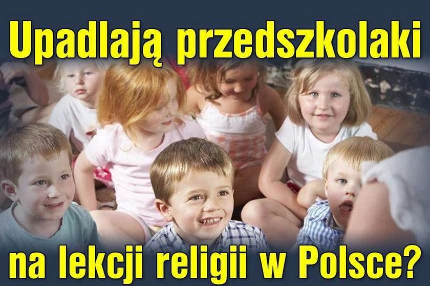 Upadlają przedszkolaki na lekcji religii w Polsce?