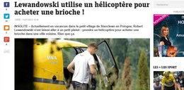 Wypominają Lewandowskiemu, że po bułki lata helikopterem!