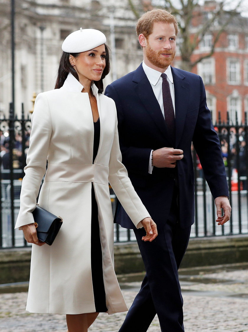 Britain's Prince Harry and his fiancee Meghan Markle arrive at the Commonwealth Service at Westminst