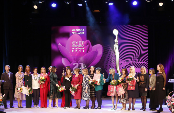 Dodelu nagrade Cvet uspeha za ženu zmaja već 21 godinu organizuje Udruženje poslovnih žena Srbije. Tako se podstiče preduzetnički duh žena