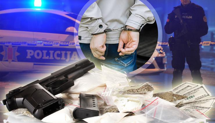 cg policija hapsenje oruzje kombo RAS Profimedia Shutterstock