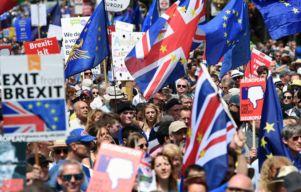 epa06833303 - BRITAIN BREXIT PEOPLE'S MARCH DEMONSTRATION (People's March Against Brexit)