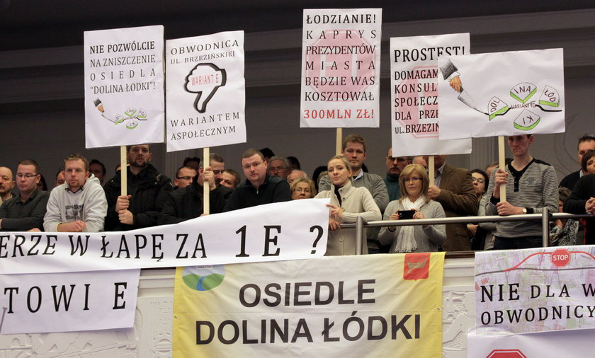 Protest mieszkańców w Łodzi