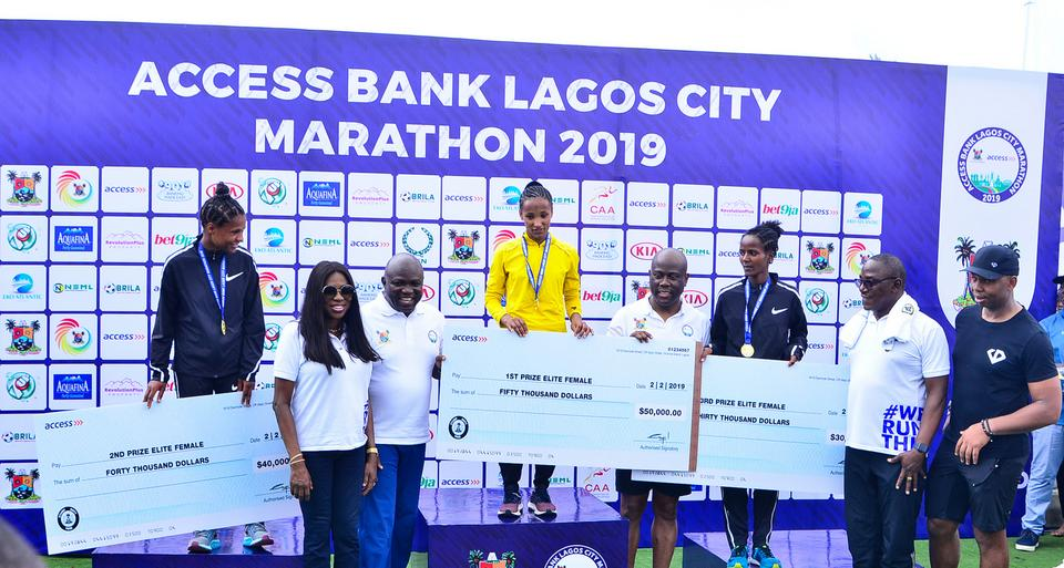 Ethiopian Dinke Meseret emerged winner while Alennesh Herpha and Kebena Chala took the second ($40,000) and the third position ($30,000) of the female 42km event at Access Bank Lagos City Marathon 2019