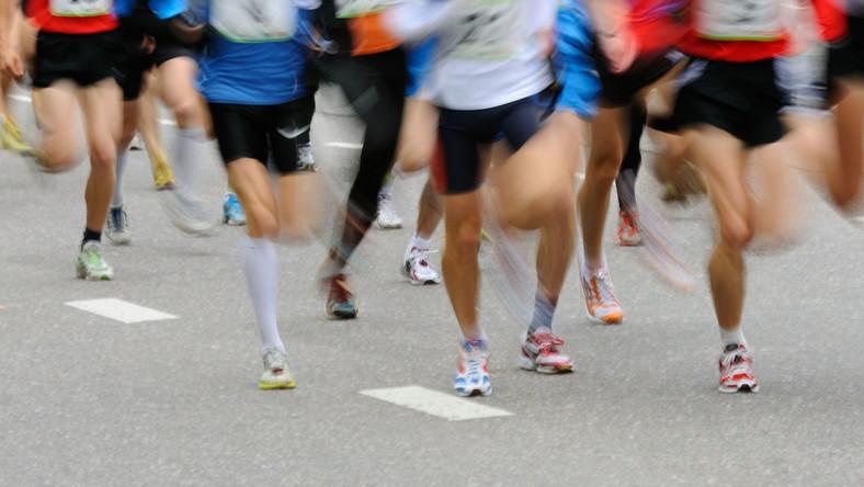 maraton biegacze biegacz