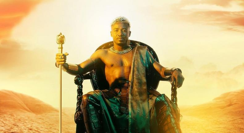Alikiba's new album cover for Only One King