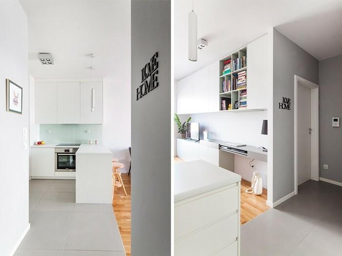Projekt mieszkania w Krakowie jest najlepszym przykładem tego, w jaki sposób uzyskać w pełni funkcjonalną powierzchnię mieszkalną na niewielkim metrażu.