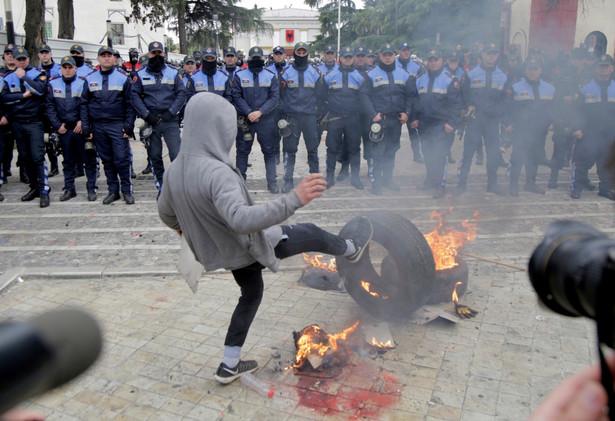 Protest w Albanii