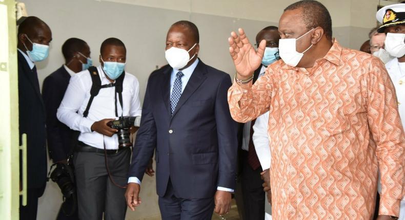 President Uhuru Kenyatta and Health CS Mutahi Kagwe