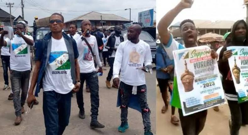 Yoruba agitators confront Customs officers to reopen Idiroko border (NPOReports)