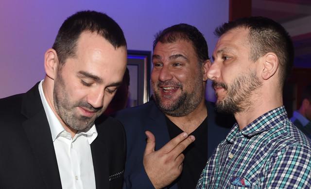 Živko Gocić, selektor Dejan Savić i Danilo Ikodinović