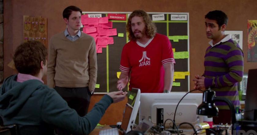 "Kadr z serialu ""Silicon Valley"""