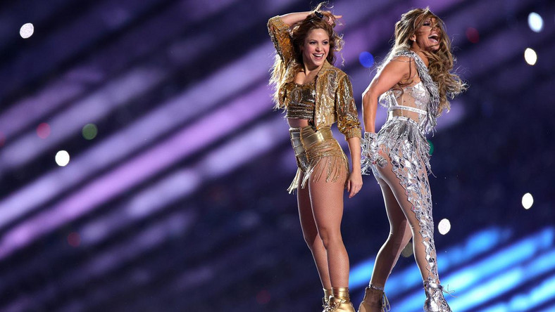 Shakira and Jennifer Lopez at Super Bowl LIV in MIami, Florida. (Tellereport)