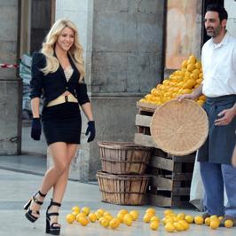 Seksowna Shakira na planie reklamy